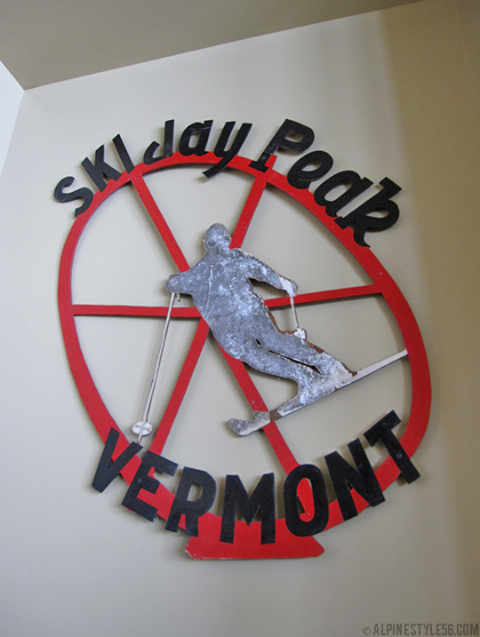 jay peak ski resort area new stateside lodge hotel 2013 vintage sign bull wheel bar
