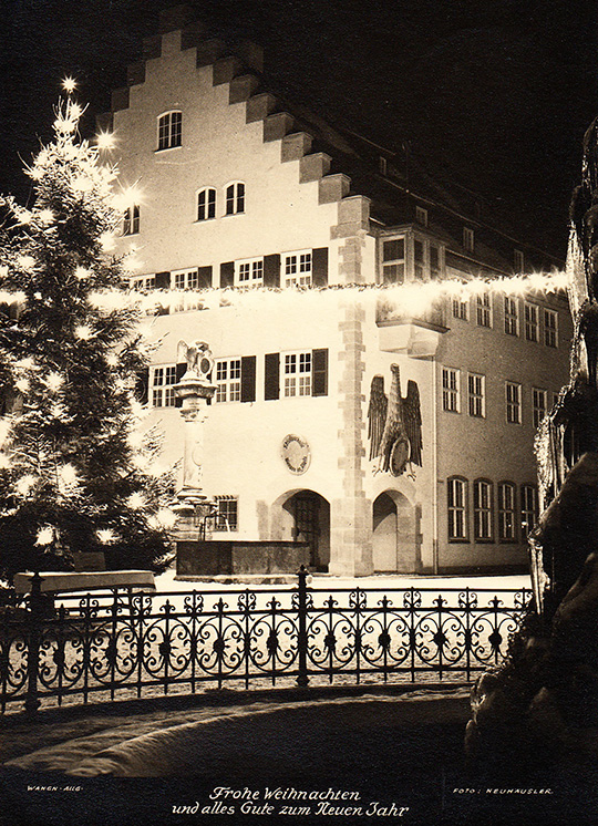 wangen im allgau germany vintage photo 1959 christmas snow