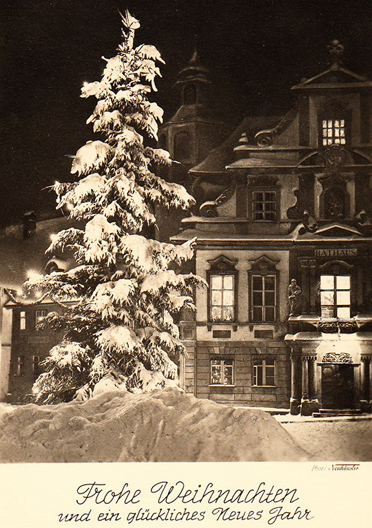 wangen im allgau germany rathaus vintage photo 1954 christmas snow
