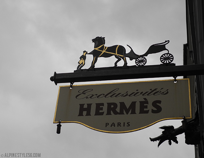 iron sign hermes boutique salzburg austria