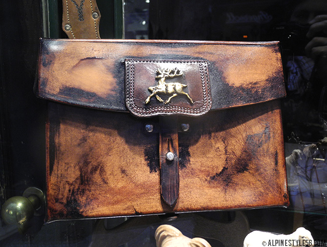leather bag game traditional hirsch brown craft