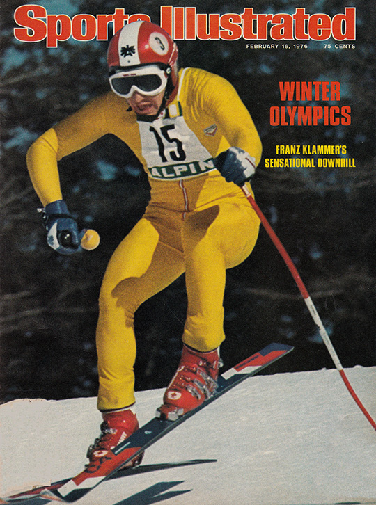 franz klammer austria winner gold medal men downhill ski innsbruck olympics sports illustrated