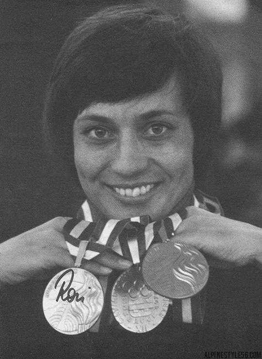 rosi mittermaier germany champion world cup olympics innsbruck 1976 gold medal