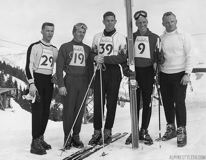 sun valley idaho ski racing vintage 1958 junior championships