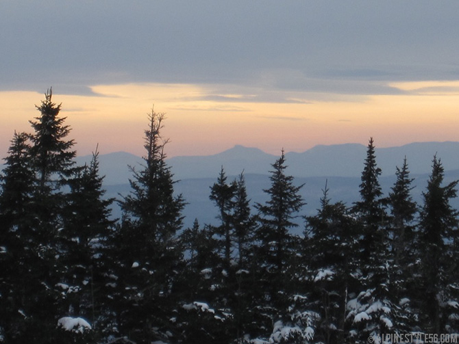 camels hump sunset burke mountain vermont northeast kingdom ski area