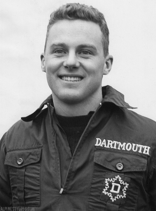 pete kirby dartmouth ski team captain 1956 quebec canada