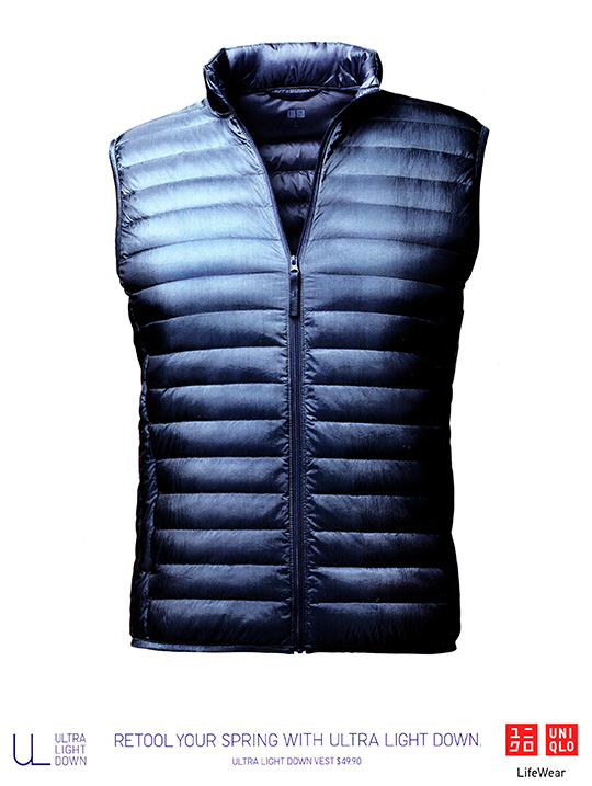 uniqlo ultra light down spring men vest life wear