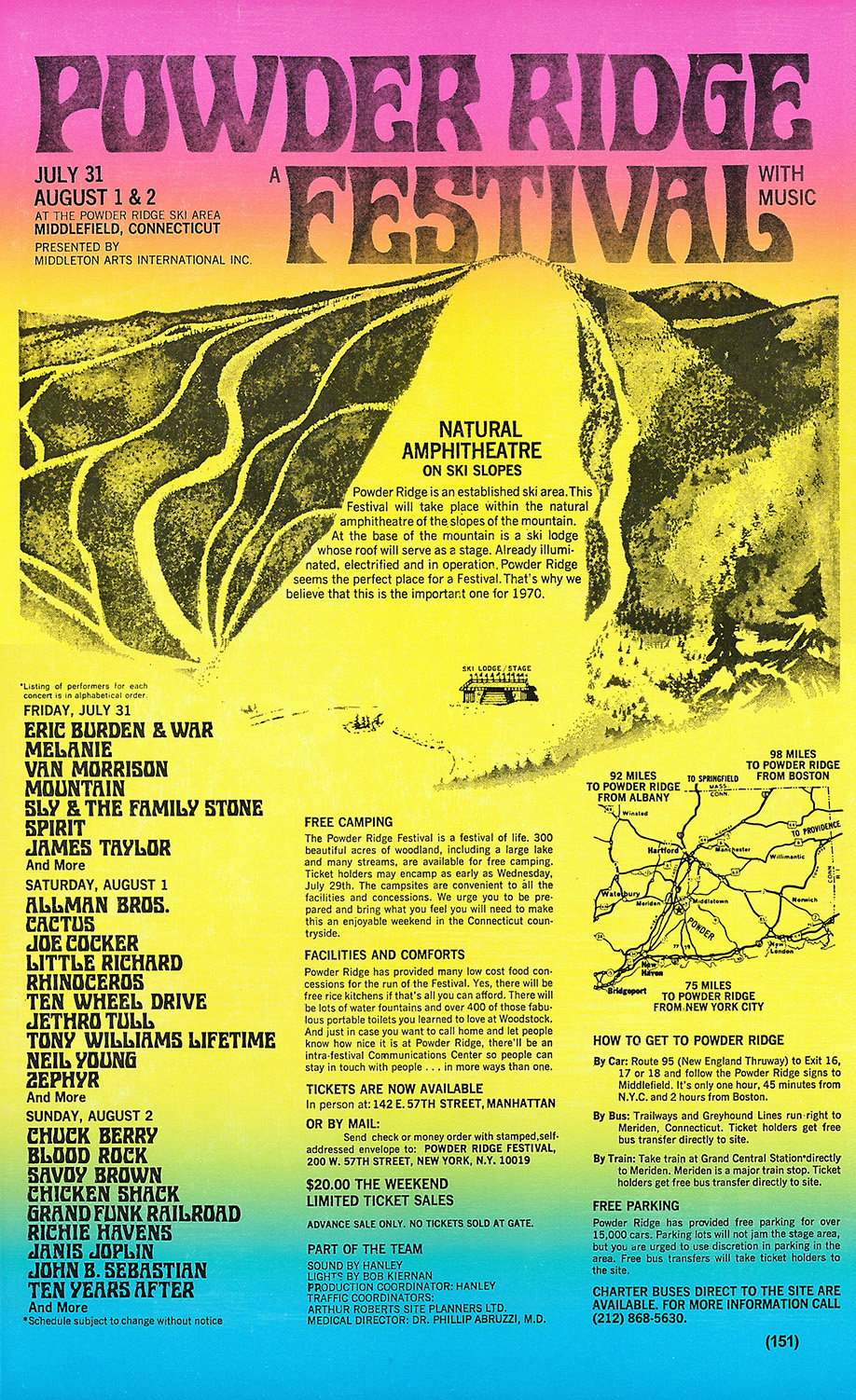 powder ridge ski area music festival concert 1970 connecticut