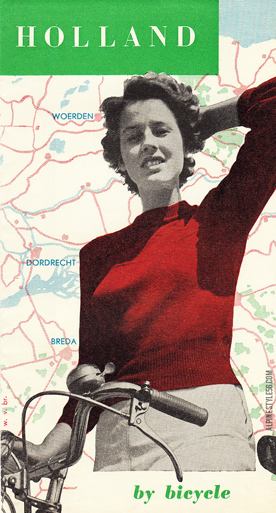 vintage holland netherlands bike bicycle travel tourist brochure