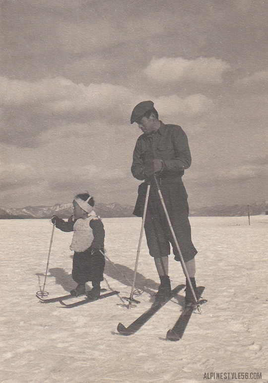 father son ski nikko occupied japan army 1949 henry h soulen photo