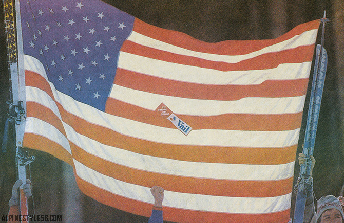 vail colorado 1989 fis alpine ski world championships american flag isa