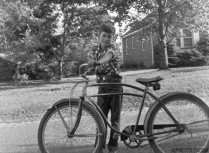 vintage retro bike style cruiser boy