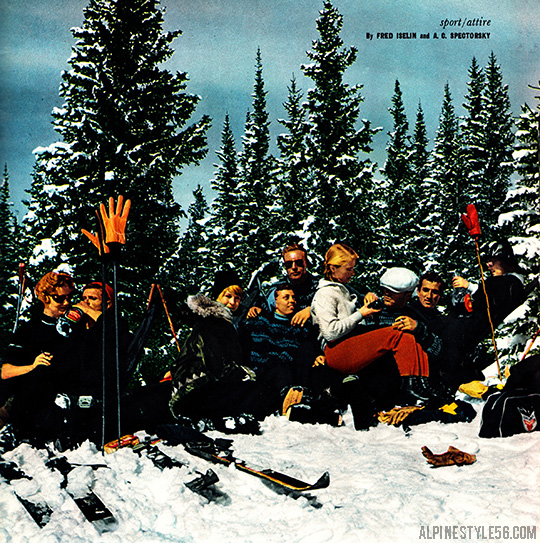 playboy magazine november 1958 ski fashion aspen colorado