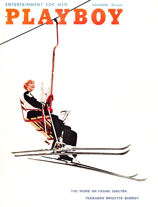 playboy magazine november 1958 ski bunny chairlift aspen colorado