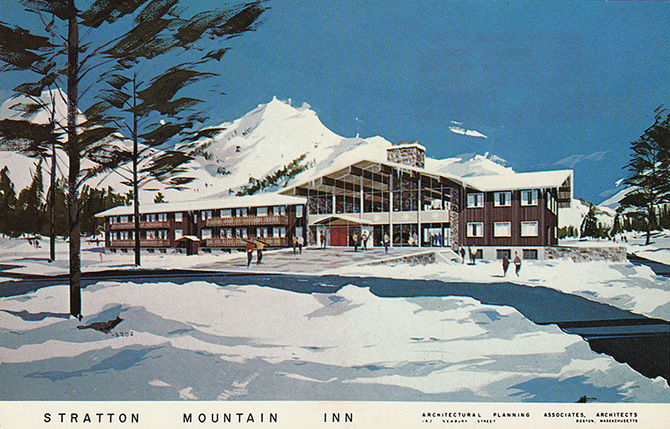 stratton mountain inn vermont ski architectural rendering