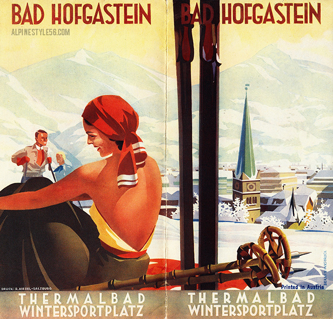 bad hofgastein austria ski vintage brochure travel
