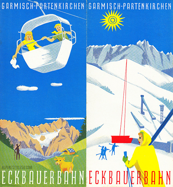 garmisch partenkirchen germany bavaria ski travel brochure