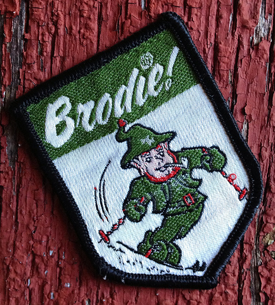 brodie mountain ski area vintage patch leprechaun irish alps