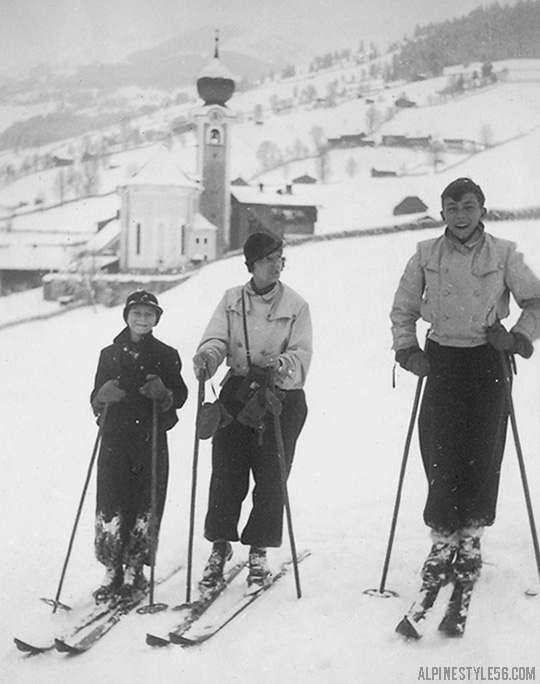 vintage ski saalbach austria zell am see mom kids church kirche