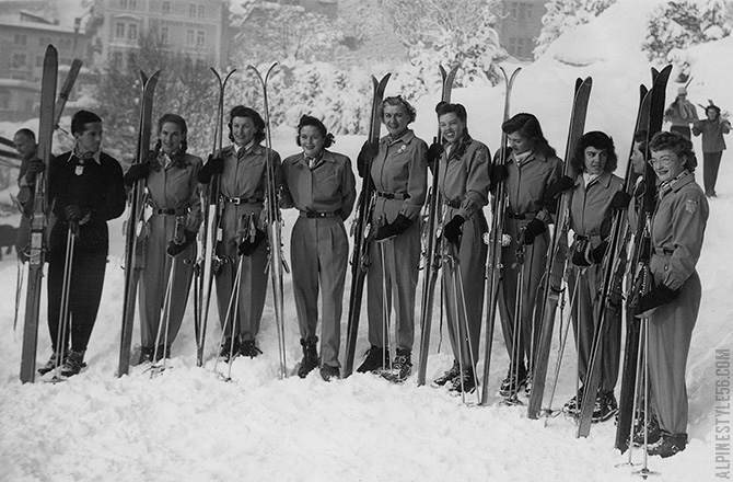 us women's ski team 1948 olympics st moritz fraser mead rytting