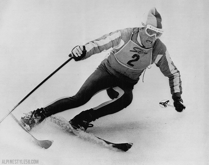 jean claude killy france wins ski race stowe vermont 1966
