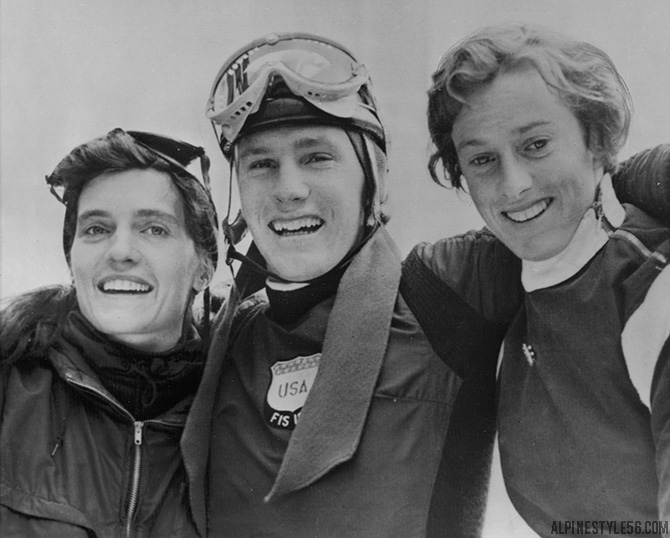 stowe ski race andrea mead lawrence buddy werner 1955