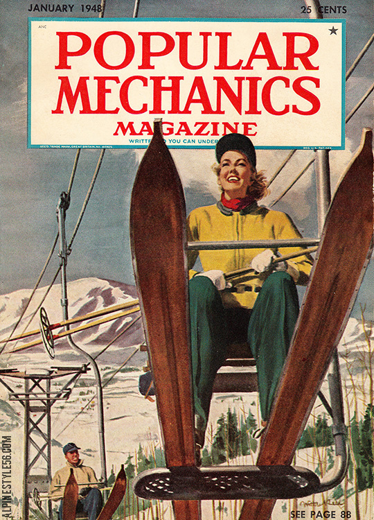 popular mechanics magazine january 1948 ski aspen chairlift
