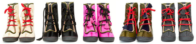 penelope chilvers impossible boot red pink black green apres ski winter