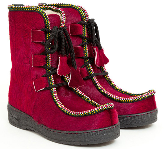 penelope chilvers impossible boot red apres ski winter